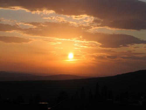Solnedgång, sedd från Idre Fjäll